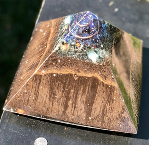"The ""XL Jumbo Giza"" Orgone Pyramid (8x8"" base) - Potent Home Foundational Device"