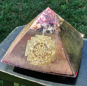 "The ""XL Jumbo Giza"" Orgone Pyramid (8x8x8 inch base   • 7.5"" height  • 5 lbs) - Potent Home Foundational Device"