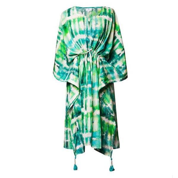 Italian Silk Serenity Midi Kaftan Dress