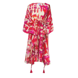 Amalfi Italian Silk Midi Kaftan Dress