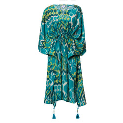 Acqua Vita Italian Silk Midi Kaftan Dress