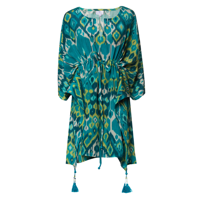 Acqua Vita Italian Silk Short Kaftan Dress