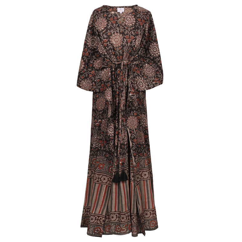 Girasole Maxi Kaftan Dress Natural dyes ONLY TWO AVAILABLE