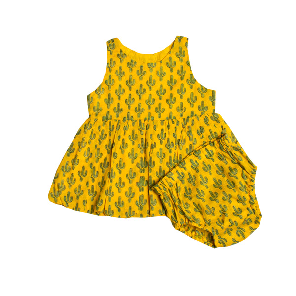 Prickly Pax Cactus Marigold Bubble Dress