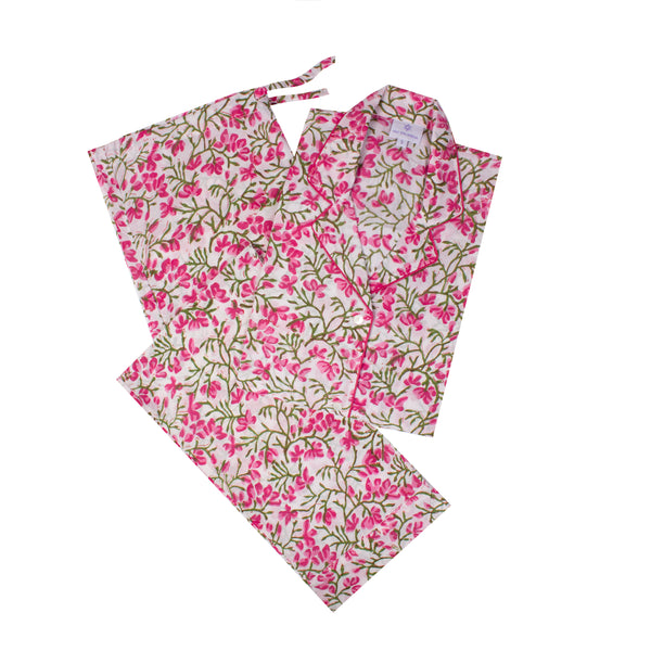 Cecelia Pink Floral Long Sleeve Pajamas (XS on Back Order 2-3 weeks )   BUY ONE GET ONE 40% OFF DISCOUNT APPLIED AT CHECKOUT