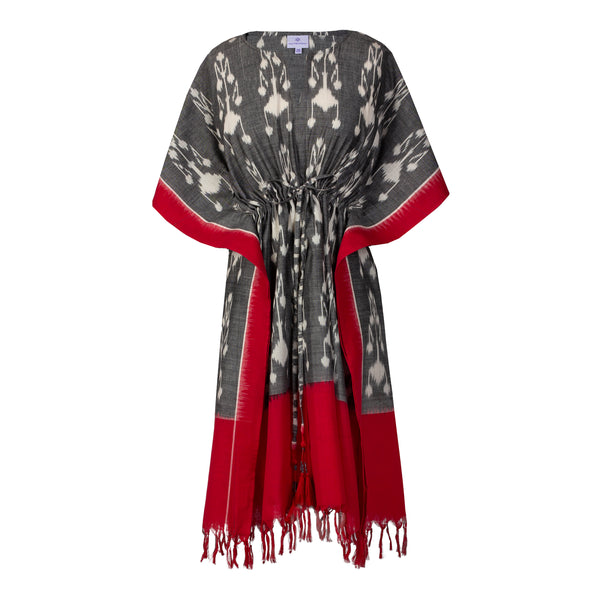 Chinle Cotton Ikat Midi Kaftan Dress Hand Woven ONLY THREE AVAILABLE