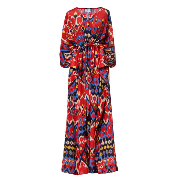 Dolce Vita Italian Silk Maxi Kaftan Dress ON BACK ORDER 2-4 WEEKS