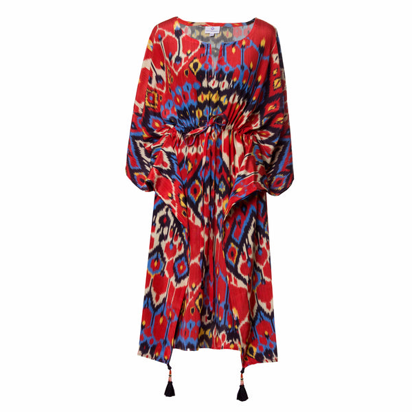 Dolce Vita Italian Silk Midi Kaftan Dress