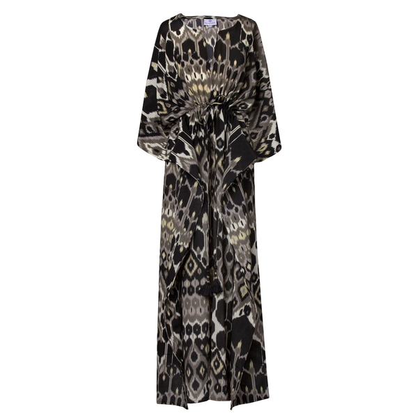 Elegante Vita Italian Silk Maxi Kaftan Dress On Pre-Order 2-3 weeks
