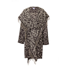 Cheryl Charcoal Boiled Wool Ikat Coat