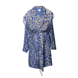 Cheryl Azure Boiled Wool Coat