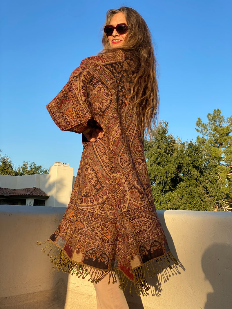 Palazzo Paisley Reversible Kimono Coat ONE OF A KIND