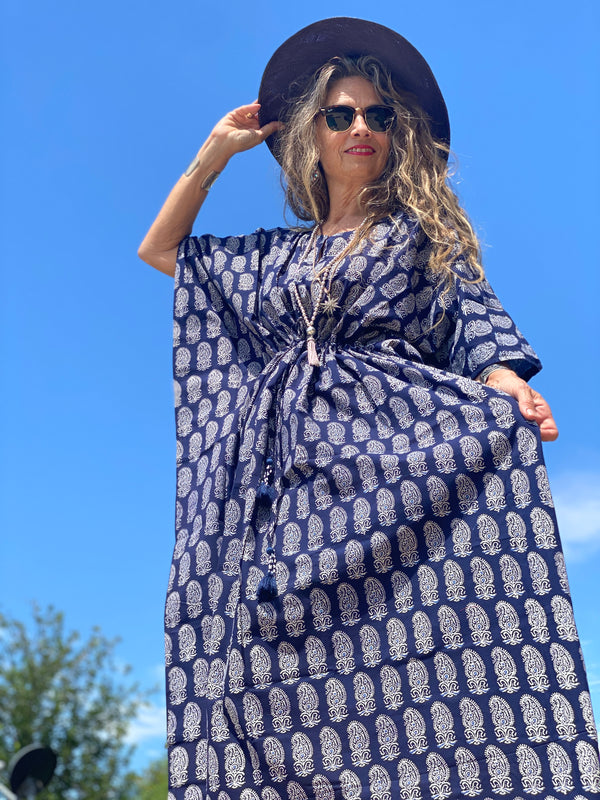 Rambagh Maxi Kaftan Dress ON BACKORDER 3-4 weeks