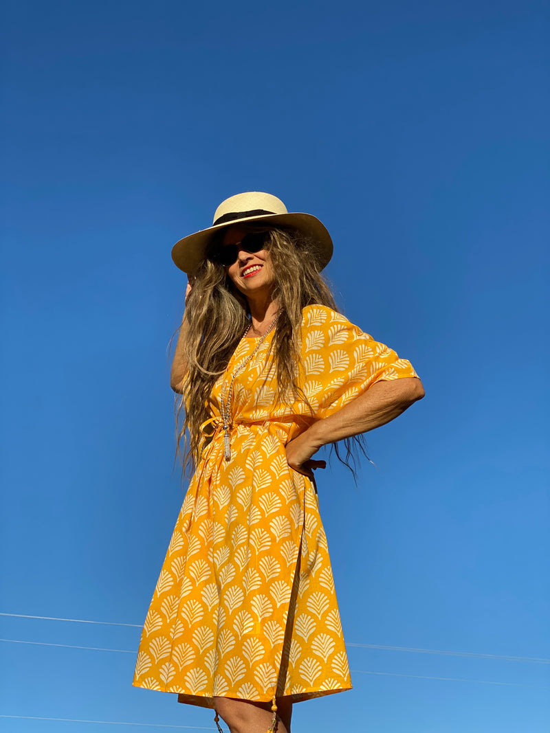 Limoncello Midi Kaftan Dress