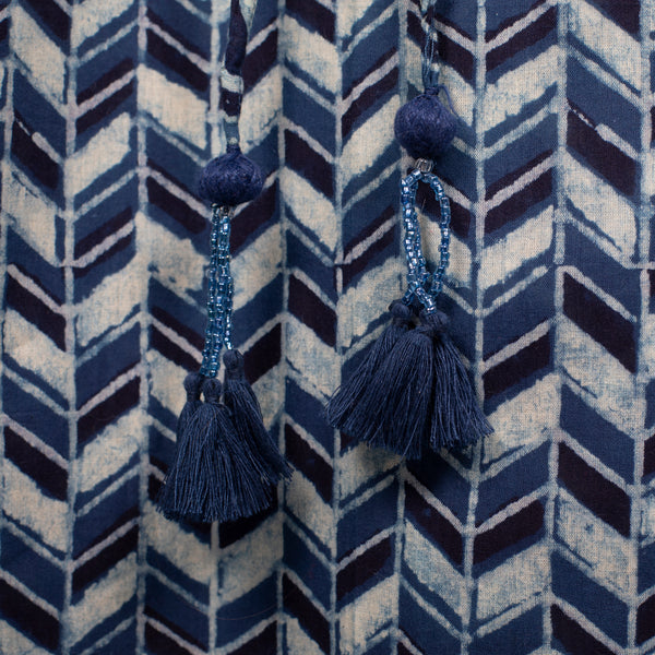 Prisma Indigo Maxi Kaftan Dress Natural Dyes