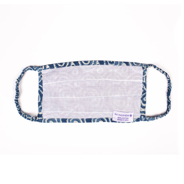 Klimt Indigo Cotton Mask