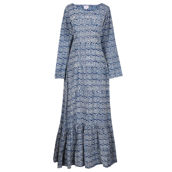 Klimt Indigo Mermaid Maxi Dress (XL OUT OF STOCK)