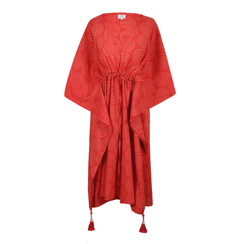 Karma Coral Midi Kaftan Dress Pre-Order 2-4 weeks