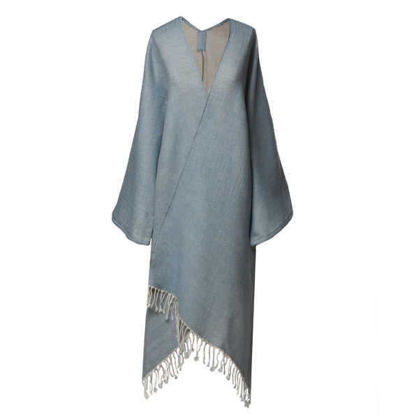One of a Kind super soft Azurrino Boiled Wool Kimono coat