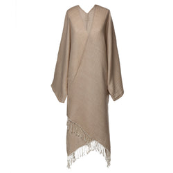 Super soft Beige Boiled Wool Kimono Coat