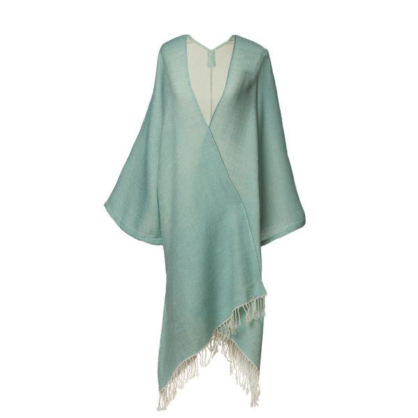 Super soft Aqua Boiled Wool Kimono Coat