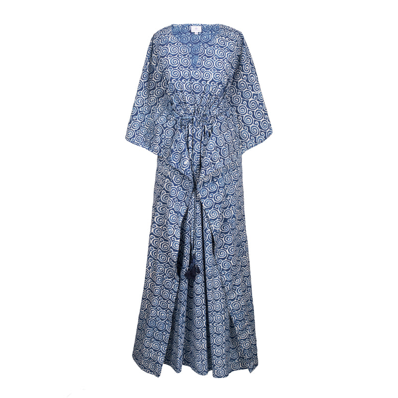 Klimt Indigo Maxi Kaftan Dress