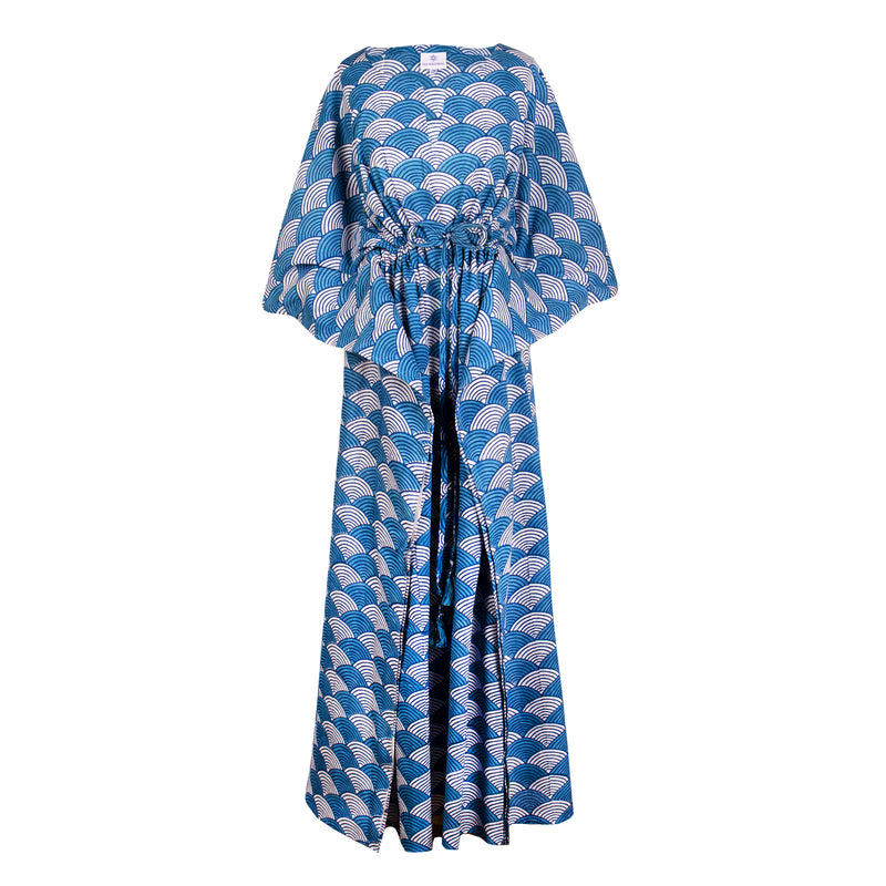 La Scala China Blue Maxi Kaftan Dress