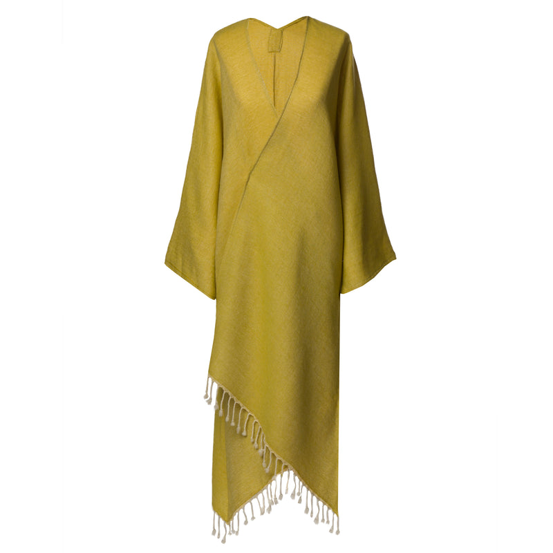 One of a Kind super soft Lemon Boiled Wool Kimono Coat