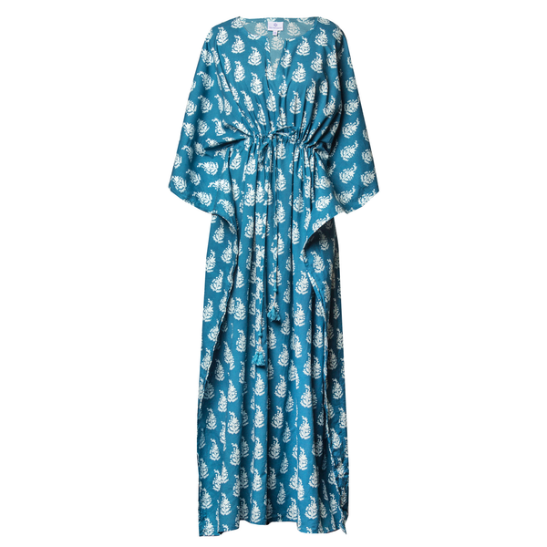 Luisa Teal Maxi Dress