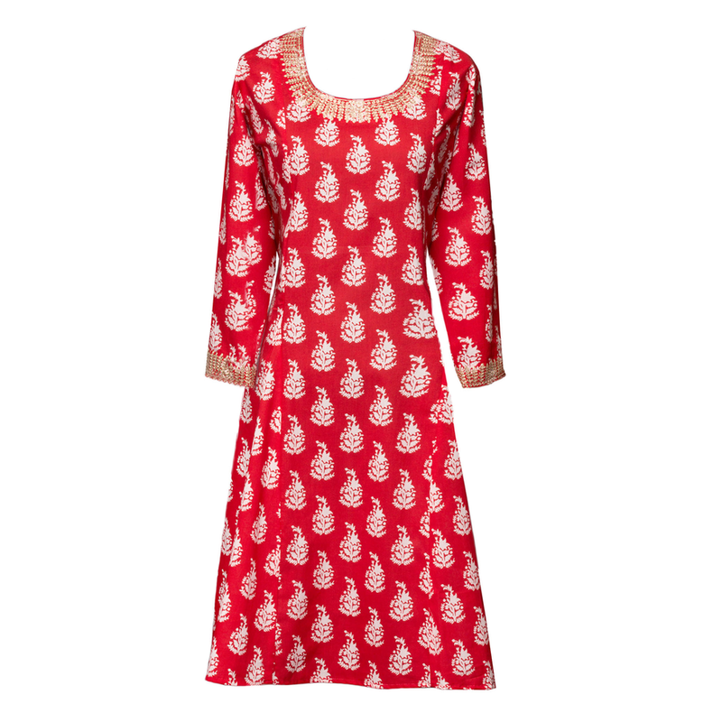 Luisa Red Flare Dress