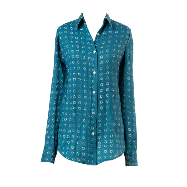 Manisha Teal Blouse