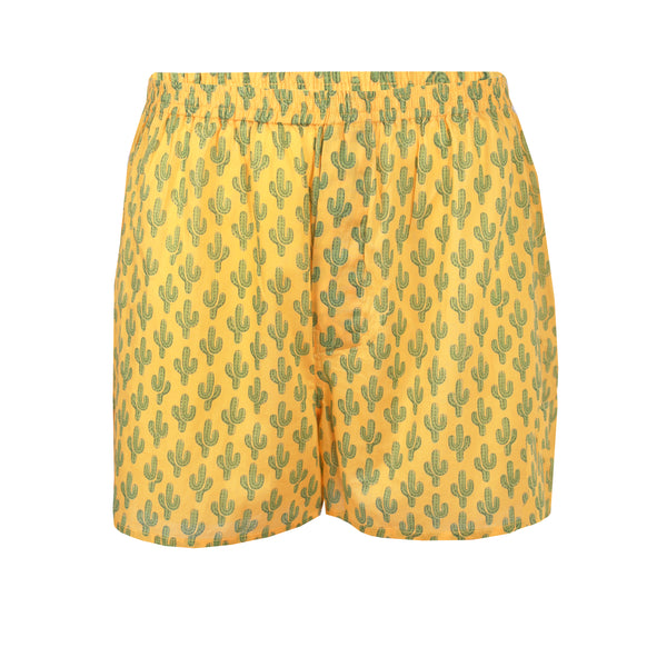 Marigold Prickly Pax Cactus Boxers ( LG and XL on BACKORDER 1-3 WEEKS)