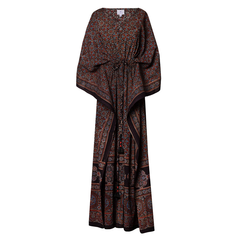 Margherita One of a Kind Natural Dyed Maxi Kaftan Dress