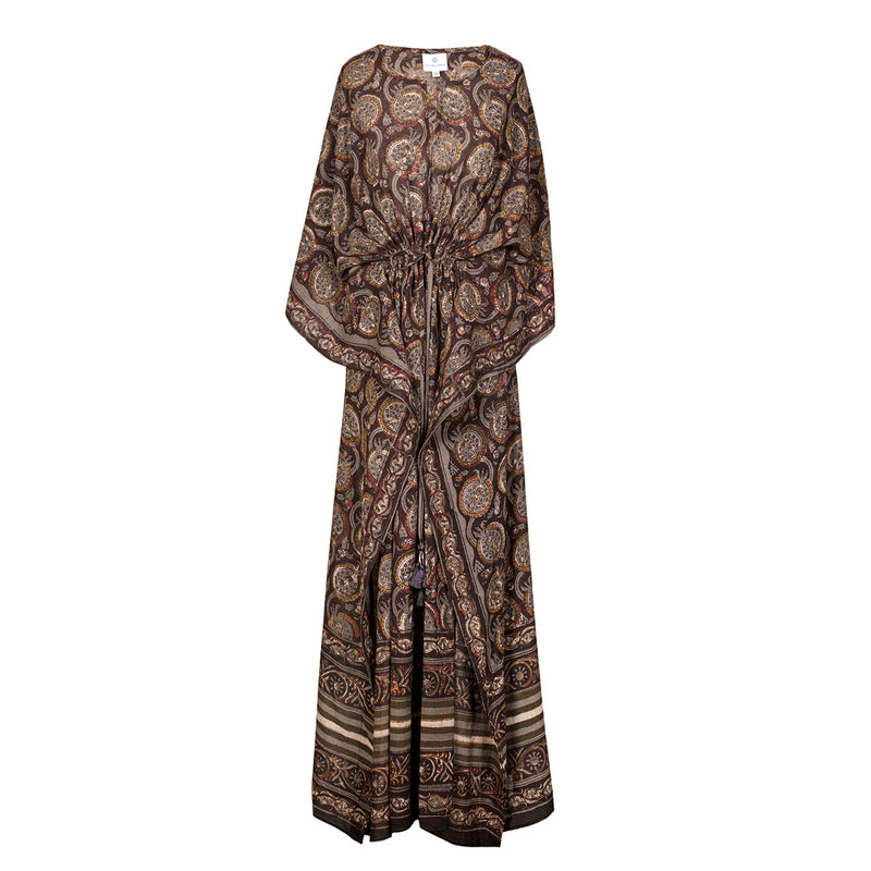 Melograno Limited Edition Natural Dyed one of a kind Maxi Kaftan Dress