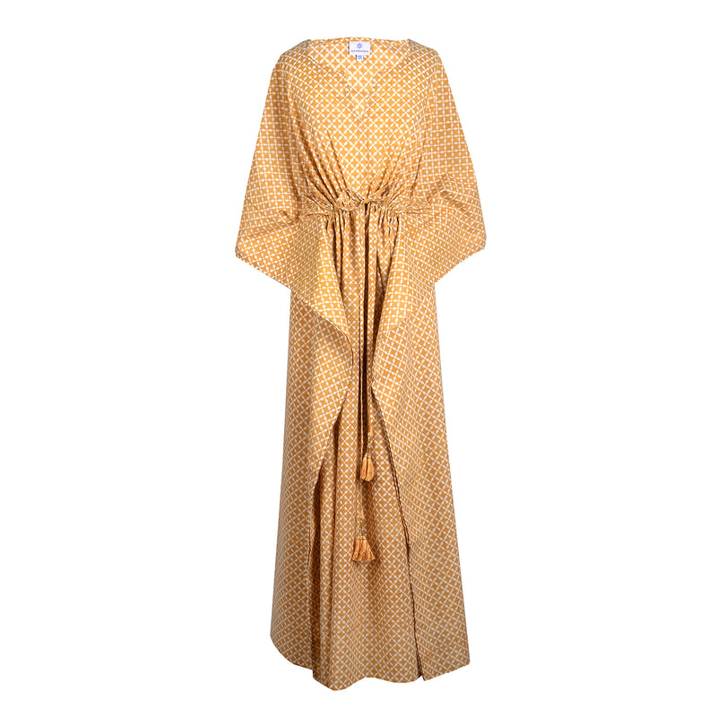Mykonos Gold Maxi Kaftan Dress JUST BACK IN STOCK