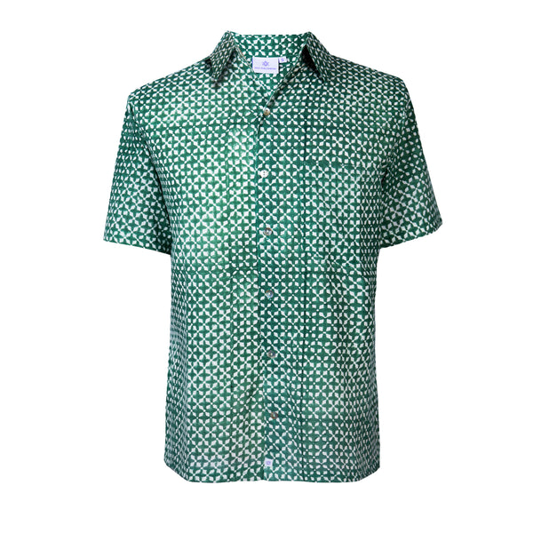 MyKonos Emerald Short Sleeve Men's Shirt