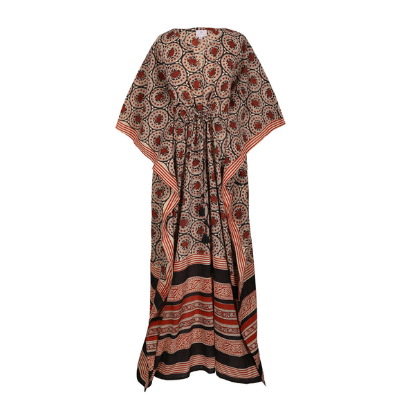 Palampore Maxi Kaftan Dress Natural Dyes 25% off discount applied at checkout  ONLY ONE AVAILABLE