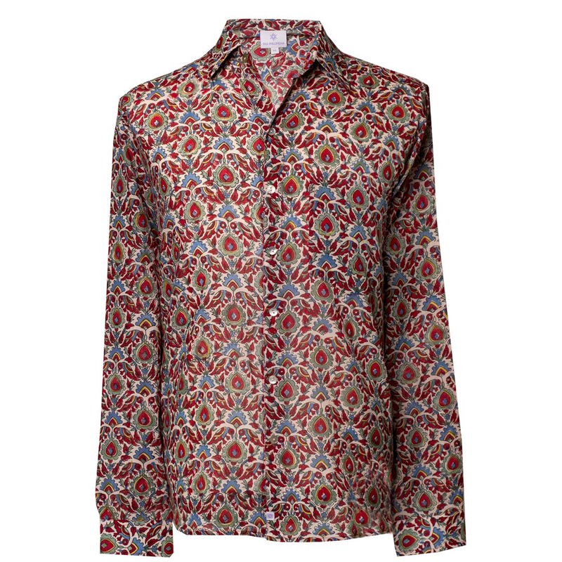 Paradise Long Sleeve Men's Button Up Shirt