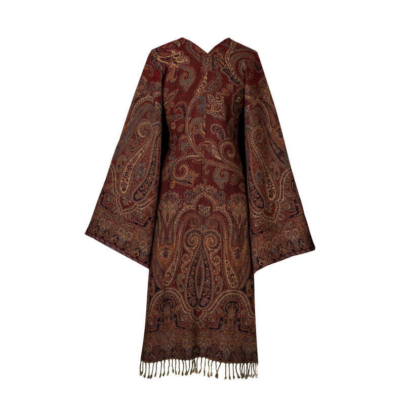 Perugia Paisley Reversible Kimono Coat ONE OF A KIND Super Soft Boiled Wool