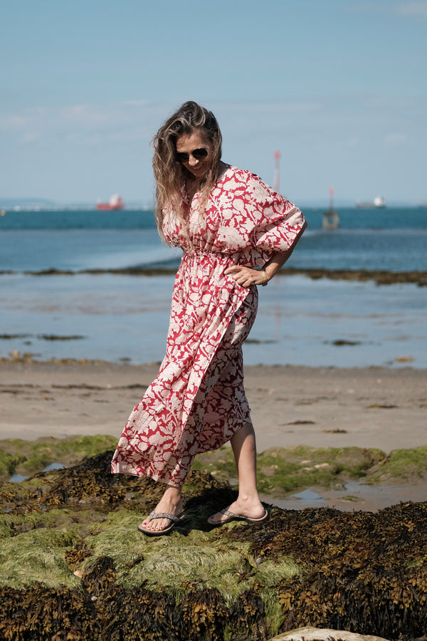 Laura Floral Maxi Kaftan Dress