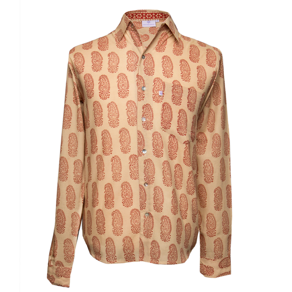 Positano Paisley Long Sleeve Men's Button Up Shirt