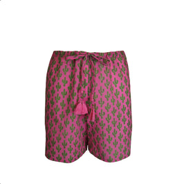 Pink Prickly Pax Cactus Lounge Shorts