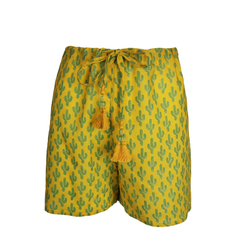 Marigold Prickly Pax Cactus Lounge Shorts