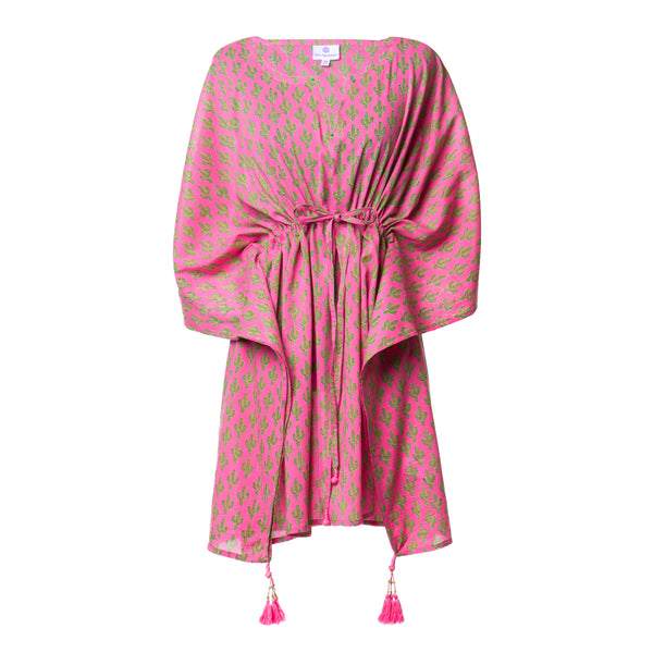 Pink Prickly Pax Cactus Short Kaftan BACK IN STOCK!!!