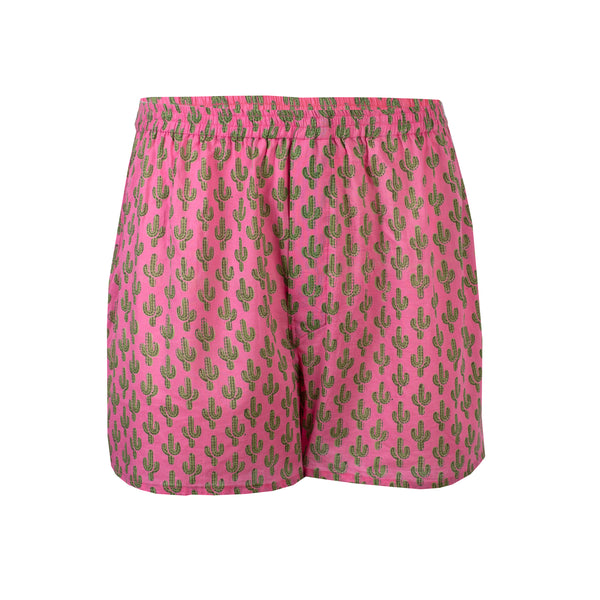 Pink Prickly Pax Cactus Boxers