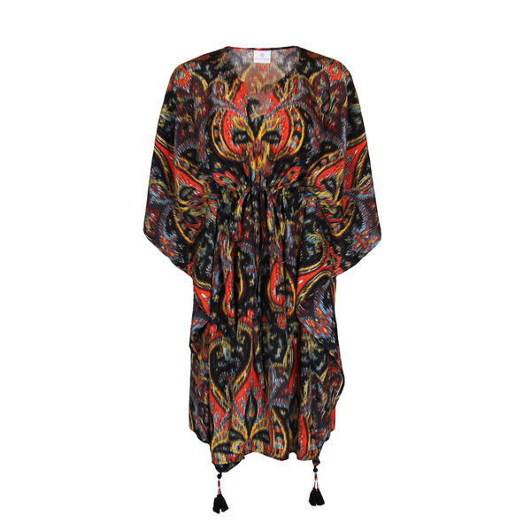Prima Donna Paisley Silk Midi Kaftan Dress