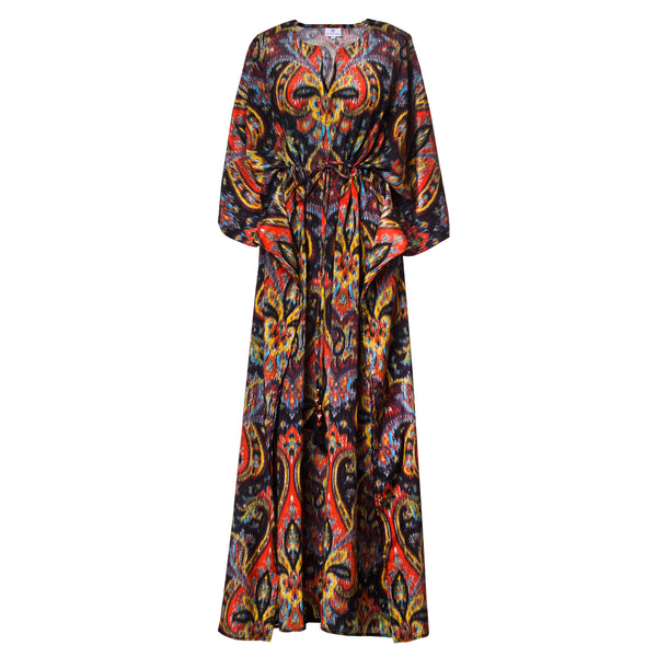 Prima Donna Paisley Silk Maxi Kaftan Dress