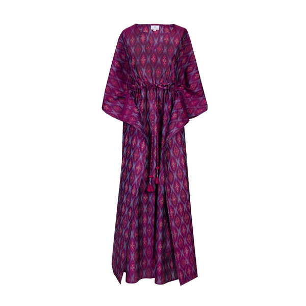 Magenta Multi Silk/Cotton Ikat Maxi ONE AVAILABLE