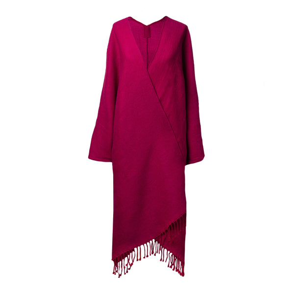 super soft Raspberry Boiled Wool Kimono coat