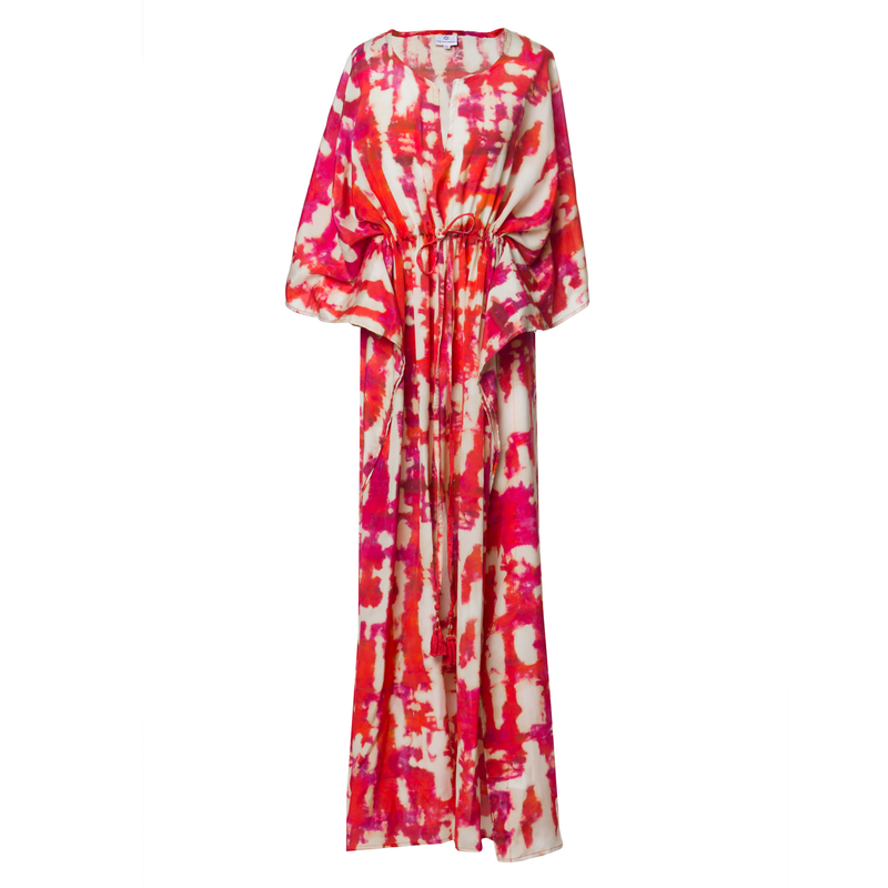 Amalfi Italian Silk Maxi Kaftan Dress ONE LEFT